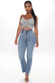 Kailey Ruched Crop Top - Heather Grey