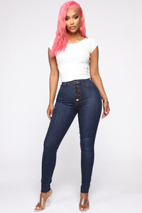Got Me Exposed Skinny Jeans - Dark Wash Angle 3