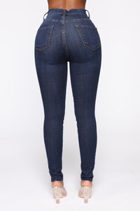 Got Me Exposed Skinny Jeans - Dark Wash Angle 5