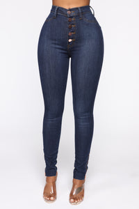 Got Me Exposed Skinny Jeans - Dark Wash Angle 2