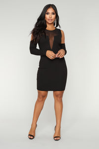 Date Night Mesh Dress - Black Angle 1
