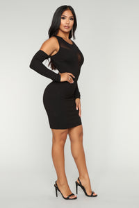 Date Night Mesh Dress - Black Angle 2