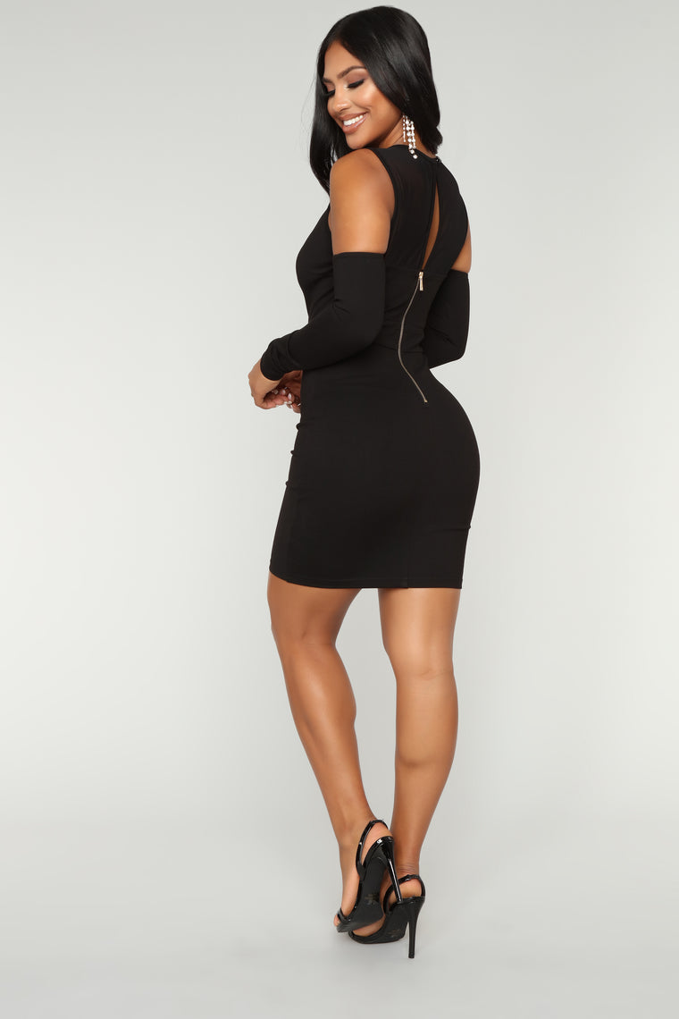 Date Night Mesh Dress - Black