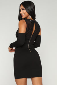 Date Night Mesh Dress - Black Angle 4