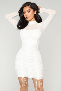 If You Had My Ruched Dress - White