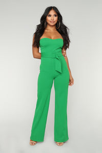 Time To Buckle Down Jumpsuit - Green