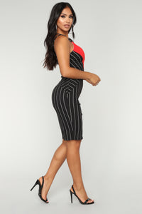 Walls Between Us Dress - Black Multi