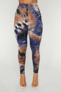 Tie It Up Leggings - Brown/combo