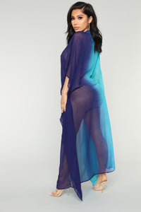 Ride My Wave Coverup Tunic - Blue/Combo