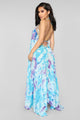 Beach Tan Coveredup Dress - Blue/Combo