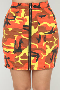 Commander Skirt - Orange