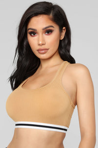 Gianna Lounge Sports Bra - Mustard
