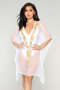 Adventure Worth While Cover Up Tunic - White