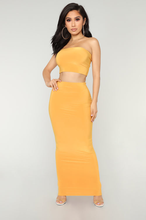 Des Skirt Set - Mustard