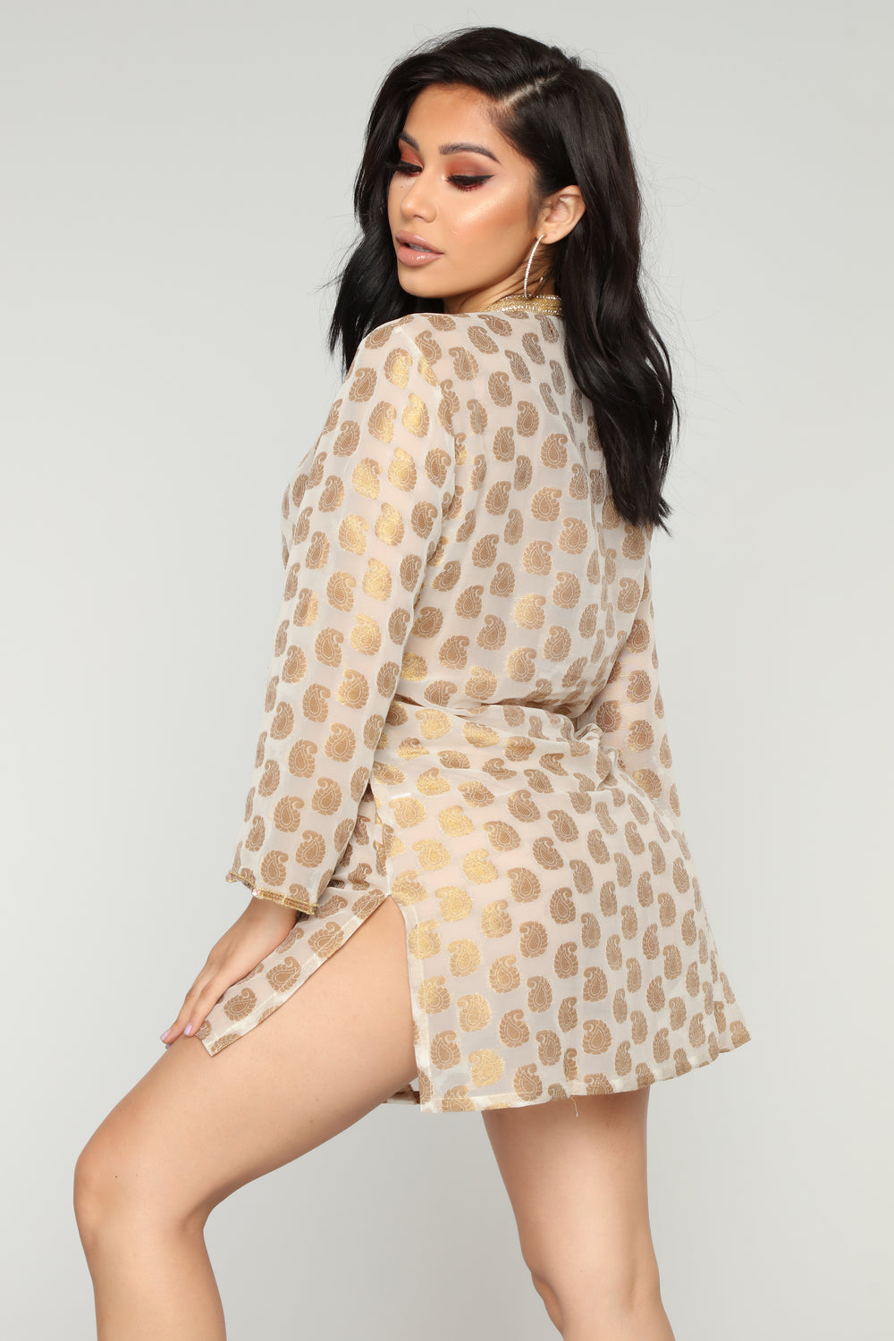 Royal Vacation Coverup Tunic - Gold