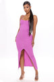 Miranda Button Front Midi Dress - Magenta