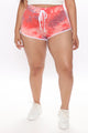 Color Blast Tie Dye Short - Coral/combo