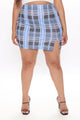 Skip School Mini Skirt - Blue/combo