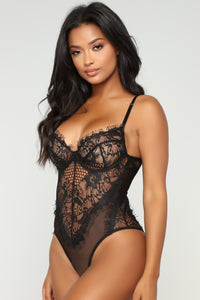 Hopelessly Romantic Teddy - Black