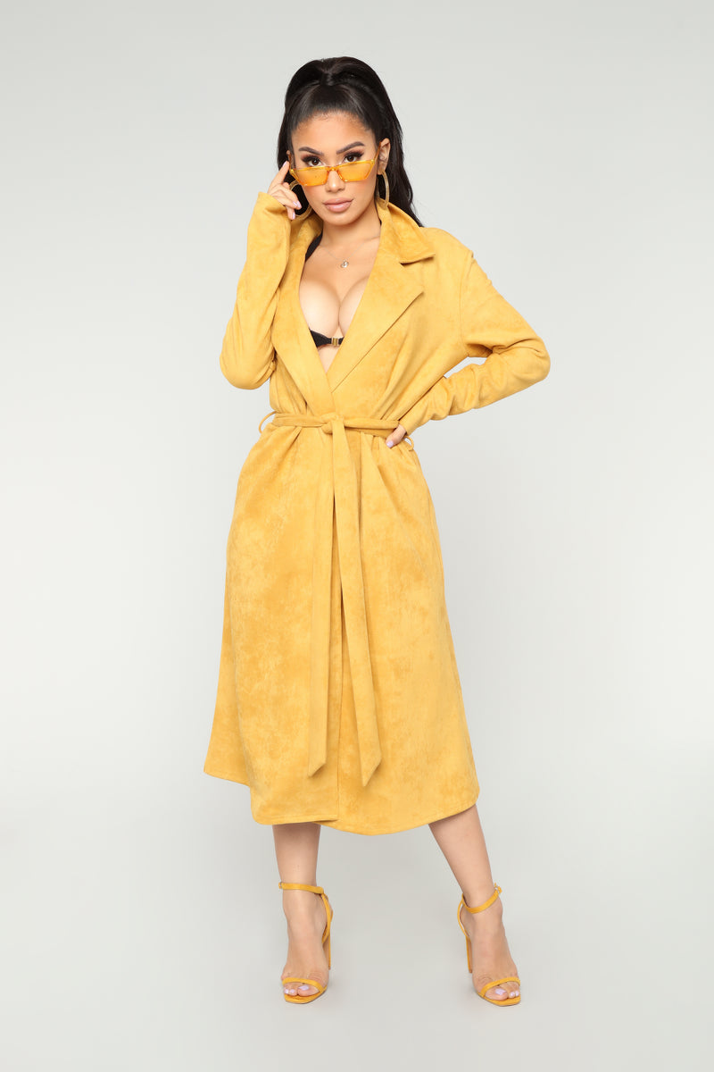 Undercover Lover Trench Coat - Mustard