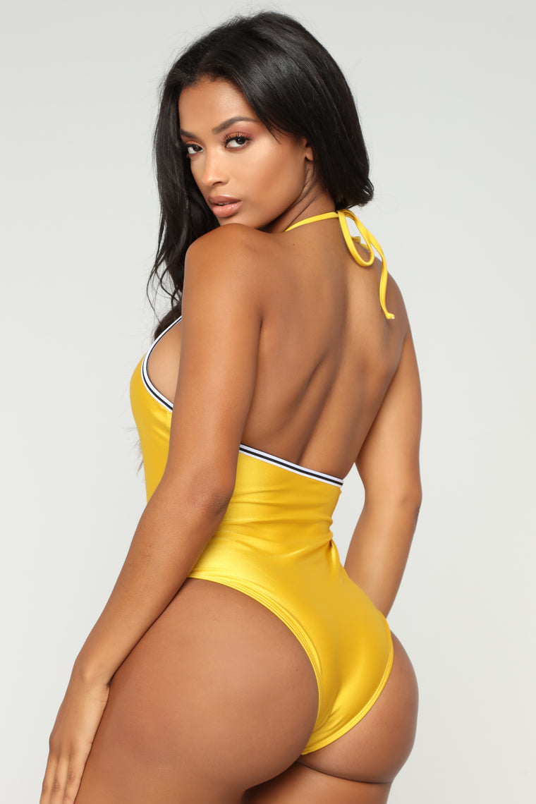 In Charge Swimsuit - Yellow