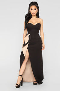 One Night Only Dress - Black/Nude