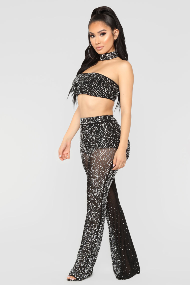 Stand Out Rhinestone Set - Black