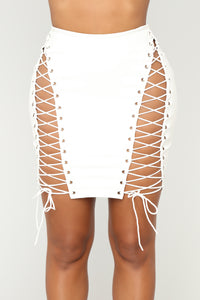 Try Me Out Skirt - White