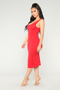 Needy Midi Dress - Red