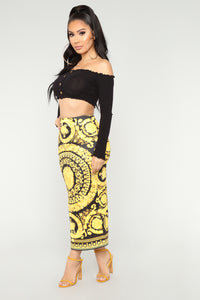 How Could Anyone Lose You Skirt - Black/Yellow