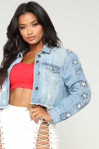A Star In The Making Denim Jacket - Medium Wash