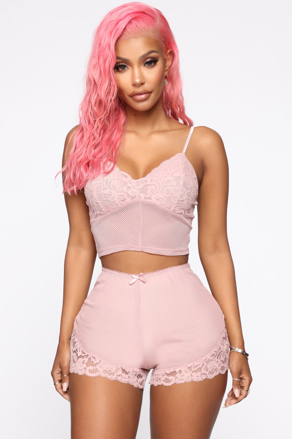 638de161d7 Sleeping In Your Arms 2 Piece PJ Set - Rose