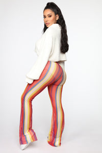 Wildin' Out Mesh Flare Pants - MultiColor Angle 5