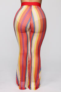 Wildin' Out Mesh Flare Pants - MultiColor Angle 6