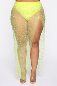 Cabana Nights 2 Piece Sunsuit - Neon Yellow