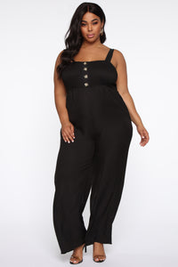 Sunday Brunch Jumpsuit - Black