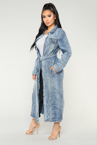Easily Amused Denim Jacket - Denim
