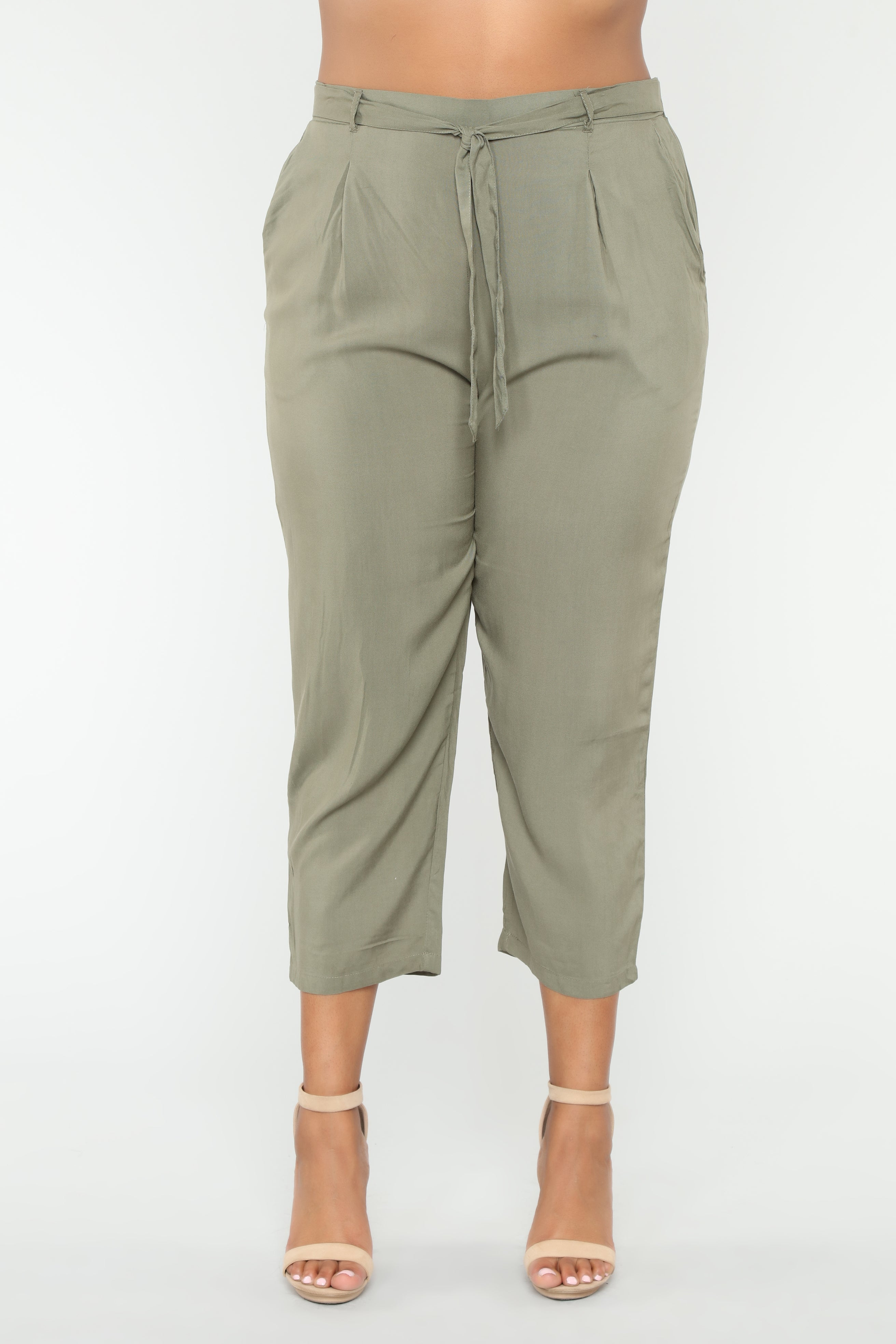 d680dadde8e Work It Waist Tie Pants - Olive