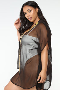Adventure Worth While Cover Up Tunic - Black
