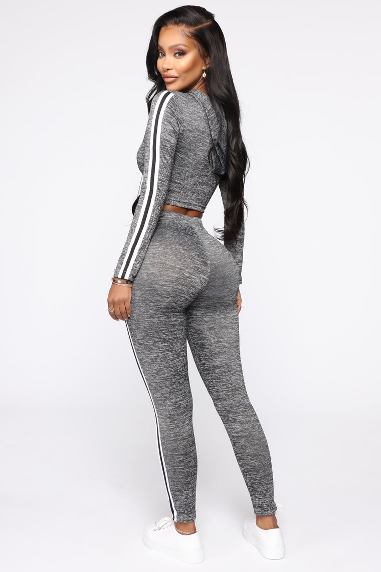 Got What You Want Lounge Set - Heather Grey