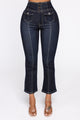 Love On The Brain High Rise Jeans - Dark Denim