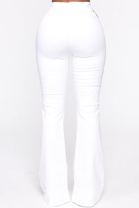 Damn Gina Denim Pant Set - White