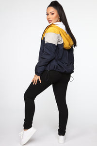Let's Keep It Cool Jacket - Navy/combo