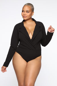 It's Business Bodysuit - Black Angle 7