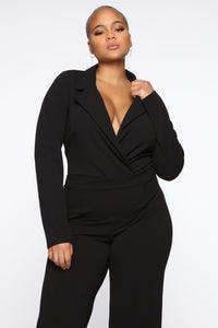 It's Business Bodysuit - Black Angle 8