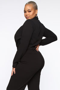 It's Business Bodysuit - Black Angle 10