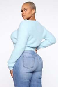 When You Need It Sweater - Baby Blue Angle 8