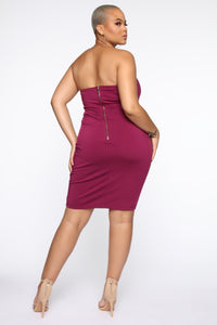String You Along Mini Dress - Eggplant