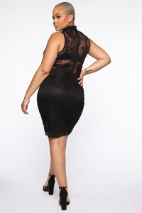 Prue Lace Dress - Black