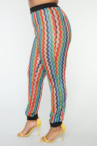 Ziggy Crochet Jogger Set - Multicolor